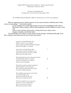 English 308: Romantic Poetry and Prose ~ Dr. Koenig-Woodyard
