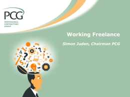 Working Freelance Simon Juden, Chairman PCG
