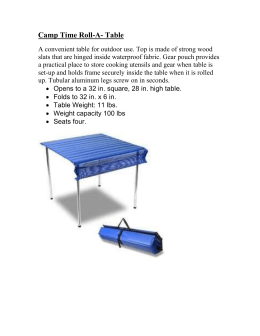 Camp Time Roll-A- Table
