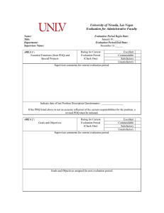University of Nevada, Las Vegas Evaluation for Administrative Faculty