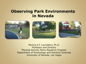 Observing Park Environments in Nevada