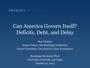 Can America Govern Itself? Deficits, Debt, and Delay