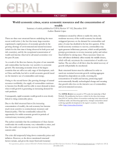 World economic crises, scarce economic resources and the concentration of wealth