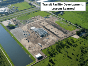 Transit Facility Development: Lessons Learned