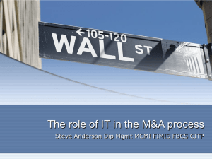 The role of IT in the M&A process