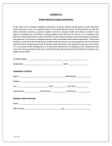 APPENDIX VIII  Student Medical Surrogacy Authorization