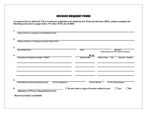 INVOICE REQUEST FORM