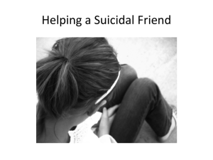 Helping a Suicidal Friend