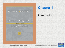 Chapter 1 Introduction Slides prepared by Thomas Bishop
