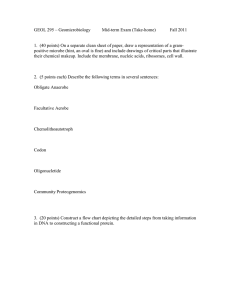 GEOL 295 – Geomicrobiology Mid-term Exam (Take-home) Fall 2011