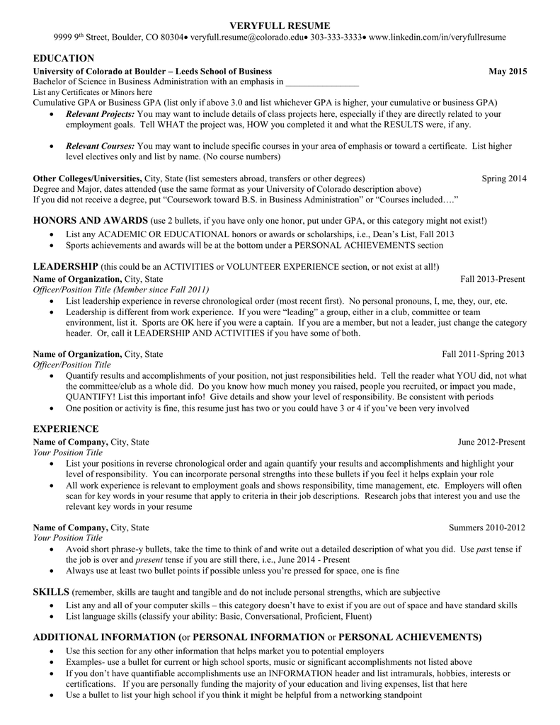 what to put under achievements on a resume - Awards To Put On Resume