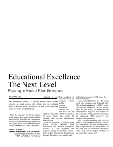 Educational Excellence The Next Level Preparing the Minds of Future Generations