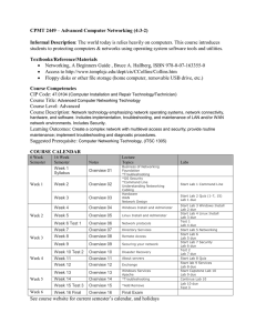 CPMT 2449  Informal Description Textbooks/Reference/Materials
