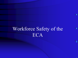 Workforce Safety of the ECA