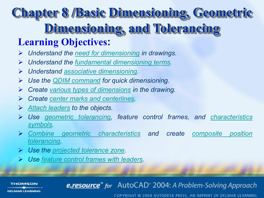 Chapter 8 Basic Dimensioning Geometric Dimensioning And