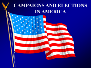 CAMPAIGNS AND ELECTIONS IN AMERICA