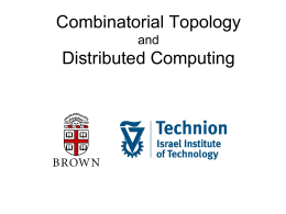 Combinatorial Topology Distributed Computing and