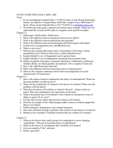 STUDY GUIDE FOR EXAM 4. BIOL 1406 Notes: