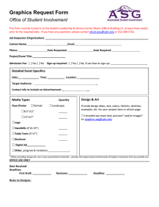 Graphics Request Form Office of Student Involvement