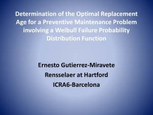 Determination of the Optimal Replacement Age for a Preventive Maintenance Problem