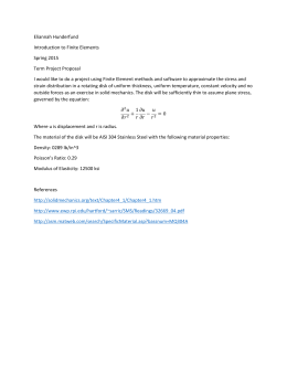 Eliannah Hunderfund Introduction to Finite Elements Spring 2015 Term Project Proposal