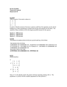 Kevin Guenther Numerical Analysis Homework #6