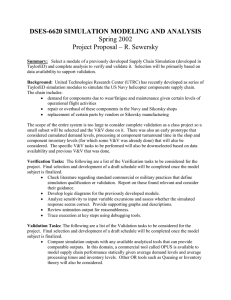 DSES-6620 SIMULATION MODELING AND ANALYSIS Spring 2002 Project Proposal – R. Sewersky