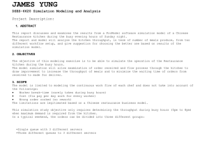 JAMES YUNG DSES-6620 Simulation Modeling and Analysis Project Description: