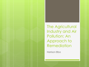 The Agricultural Industry and Air Pollution: An Approach to