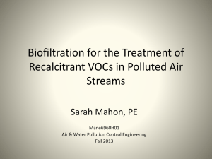 Biofiltration for the Treatment of Recalcitrant VOCs in Polluted Air Streams