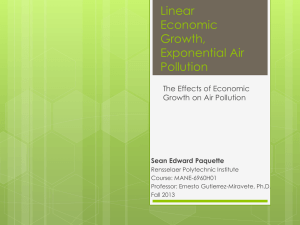 Linear Economic Growth, Exponential Air