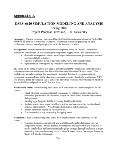 Appendix A  DSES-6620 SIMULATION MODELING AND ANALYSIS Spring 2002