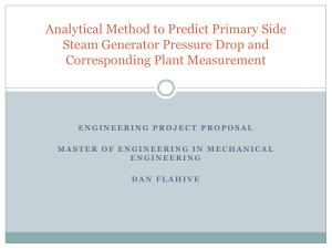 Analytical Method to Predict Primary Side Steam Generator Pressure Drop and