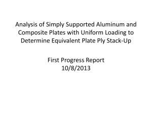 Analysis of Simply Supported Aluminum and Determine Equivalent Plate Ply Stack-Up