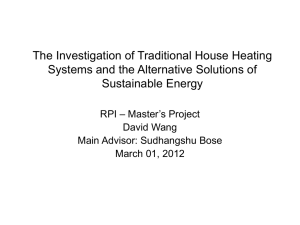 The Investigation of Traditional House Heating Sustainable Energy