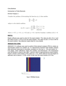 Chris Bickford Introduction to Finite Elements HW #5; Problem 3