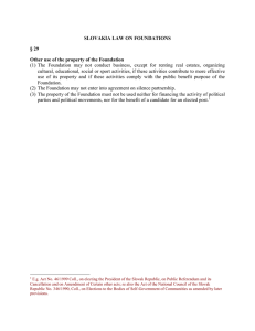 SLOVAKIA LAW ON FOUNDATIONS § 29