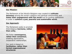 Our Mission: harmony foster their engagement with the world Our Approach: