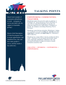 TALKING  POINTS  EMPOWERING  COMMUNITIES. TOGETHER.