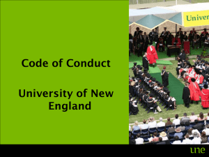 Code of Conduct University of New England