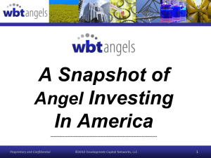 A Snapshot of Investing In America Angel