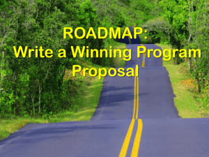 ROADMAP: Write a Winning Program Proposal