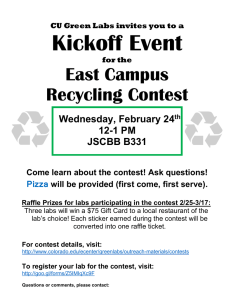 Kickoff Event East Campus Recycling Contest Wednesday, February 24