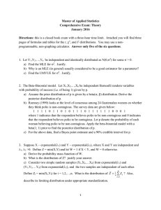 Master of Applied Statistics Comprehensive Exam: Theory January 2016