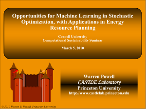 Opportunities for Machine Learning in Stochastic Optimization, with Applications in Energy