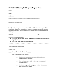 CS 5430+5431 Spring 2016 Regrade Request Form