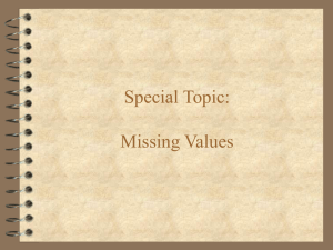 Special Topic: Missing Values