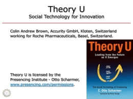 Theory U Social Technology for Innovation