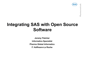 Integrating SAS with Open Source Software armaceuticals Ph