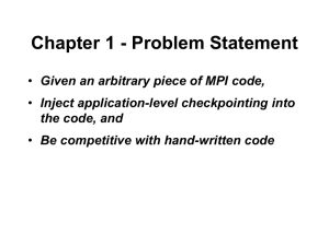 Chapter 1 - Problem Statement